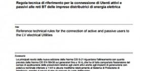 Pubblicate le varianti V2 alle norme CEI 0-16 e CEI 0-21: gli UPS non sono sistemi di accumulo (SdA)